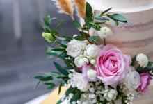 Wedding Cake - Alfa & Nathania by Lareia Cake & Co.