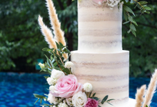 Wedding Cake - Alfa & Nathania by Lareia Cake & Co.