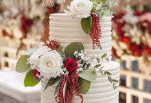 2 Tier Wedding Cake - Faustine & Remigius by Lareia Cake & Co.