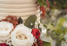 2 Tier Wedding Cake - Faustine & Remigius by Lareia Cake & Co.