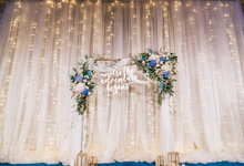 Wedding Venue Setup by Lavender Love Florist