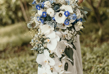 Cascading bridal bouquet  by Lavender Love Florist