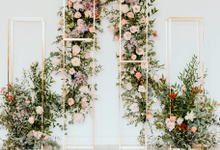 Stage backdrop  by Lavender Love Florist