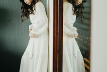 Camille in our Lapel Dress Robe by Adora Couture