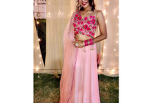 Light lehenga  by Lekshviya Rao Label