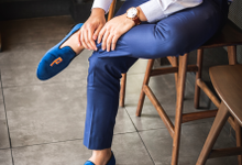 Formal wear with custom embroidery loafers by BRILLO.FOOTWEAR