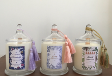 Customized Candles for Wedding Favors by Les Copines Candle & Diffusers