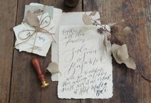 Handwritten Invitation  by Letter By Bee