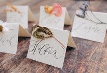 Escort Cards by Letter By Bee