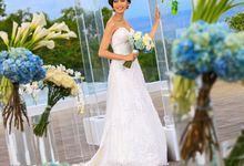 Wedding celebration at Pool Deck by Renaissance Bali Uluwatu Resort & Spa