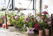 Long Table Arrangements by Lila Rosé Weddings