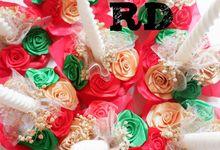 candle decoration - jakarta by ribbondecoration