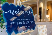 Navy Blue and Rose Gold Themed Wedding by The Jomu Co