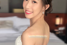 Brides styling by LING Chia Makeup & Hairstyling