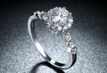 Tiaria Romantic Engagement Ring Design 35 by TIARIA