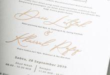 Devi & Rafiq (Letter Press Invitation) by TJIJERAHMADE