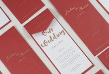 Andrew & Clarisa (Letterpress Invitation) by TJIJERAHMADE