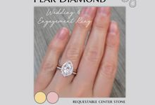 PEAR Center Engagement Ring by Mirage Jeweler