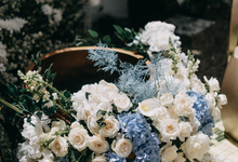 Siraman Blue White by Lovemedecor.id