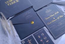 Yesica & Eric - Elegant Navy Gold Hard Cover by Keeano Project