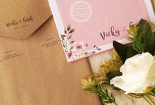 Vicky & Gigih - Invitation Hard Cover Mix Textured Paper and Craft with envelope by Keeano Project