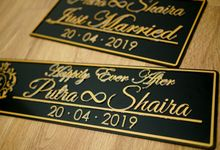 Custom Acrylic Wedding Car Plate Number by Jaya Abadi Laserwork