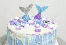 Mermaid Cake for Birthday Cake by Cloud Nine Cakery