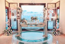 Dinner Wedding Decor by Red Gardenia
