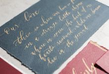 Calligraphy for Wedding Stationery by Calligraphy from The Other Day