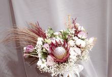 Dried Wedding Bouquet Series by Frisch Florist