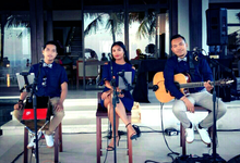 28/4/18 acoustic trio for Doris & Julius wedding by Lucky Aces Acoustic Bali