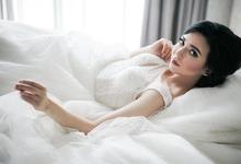 Photoshoot for magazine by Luminous Bridal Boutique