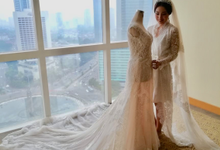 Wedding day Sastra and Stephanie by Luminous Bridal Boutique