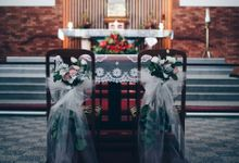 Soft Pastels Church Wedding - Iva & Raymond by Flores de Felice