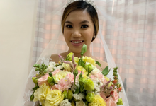 Ms meriedith on her wedding day  by Make Up Artistry by Jac Sindayen