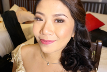 Ms Julie on her Wedding day  by Make Up Artistry by Jac Sindayen