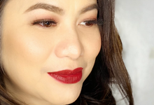 Ms Jac for her Company Christmas Party  by Make Up Artistry by Jac Sindayen