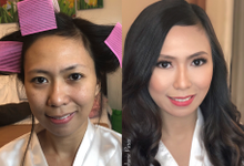 Before and After Hair and Makeup by Makeup by Stephanie Paras