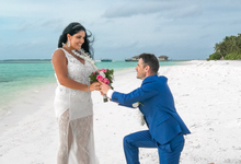 Sandbank wedding day  by Maldives wedding