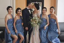 • ROBERT & MICHELLE • SERENITY BLUE by MALVA Bridesmaids