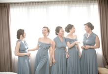 Fredi & Stefania • Dusty Blue by MALVA Bridesmaids