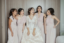 ANDREAS & HERLIANI • PRINCESS PINK by MALVA Bridesmaids