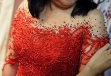 Red A Line Mama Gown by Sisca Zh