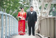 Wedding Day of Mandy and OJT at Fullerton Hotel (Actual Day Photography) by oolphoto