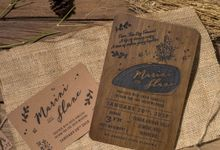 Wedding Invitation - Rustic Wooden by Kanoo Paper & Gift