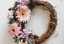 Custom Wreath by Kopi dan Tanaman