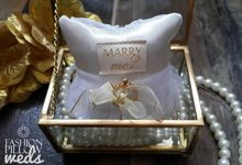 Glass Box Propose Pillow by Fashion Pillow Weds