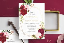 Marsala Blush by Trouvaille Invitation