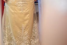 Gold Evening Gown - Maylany by Sisca Zh