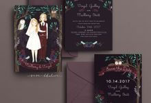Midnight Forest | Custom Illustration Invitation by Sasa Khalisa Illustration & Design